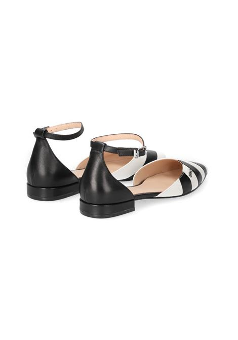 BALLERINE A RIGHE LIU JO SHOES | Sandalo | SA1065PX15600054BLACKWHITE