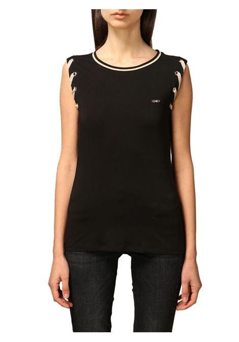 T-SHIRT CON OCCHIELI LIU JO SPORT | T-shirt | TA1037J607222222NERO