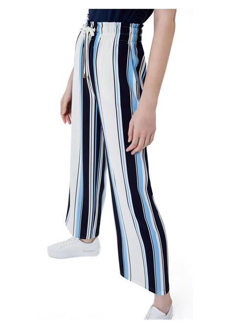 PANTALONE A RIGHE LIU JO SPORT | Pantalone | TA1102T4012B3904DRESSBLUE