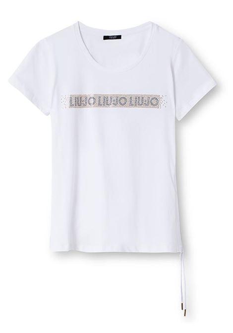 T-SHIRT ECOSOSTENIBILE CON LOGO LIU JO SPORT | T-shirt | TA1193J592311110BIANCO