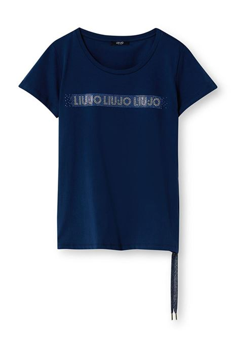 T-SHIRT ECOSOSTENIBILE CON LOGO LIU JO SPORT | T-shirt | TA1193J592394024DRESSBLUE