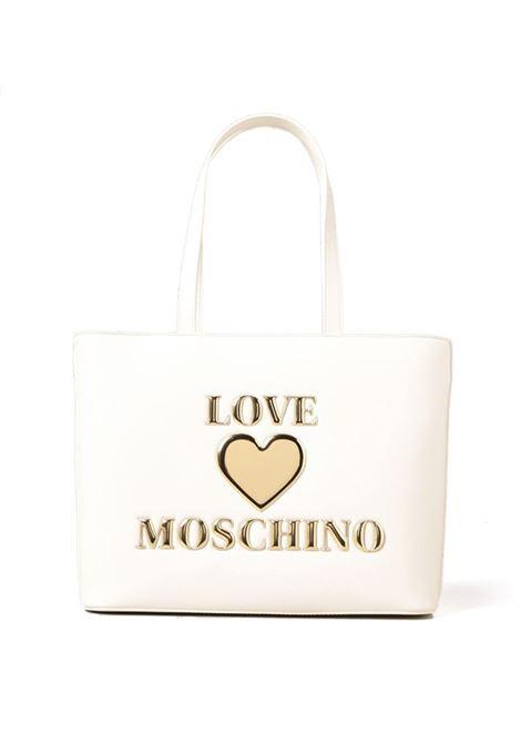 BORSA A SPALLA CON LOGO LOVE MOSCHINO | Borsa | JC4051PP1CLF0100BIANCO
