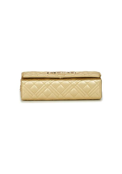 CLUTCH NEW SHINY QUILTED LOVE MOSCHINO | Borsa | JC4079PP1CLA2901ORO