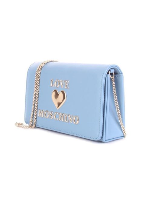 CLUTCH PADDED HEART LOVE MOSCHINO | Borsa | JC4083PP1CLF0700AZZURRO