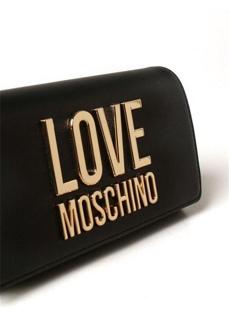 PORTAFOGLIO IN PELLE SINTETICA CON BIG LOGO LOVE MOSCHINO | Portafoglio | JC5614PP1CLJ000ANERO