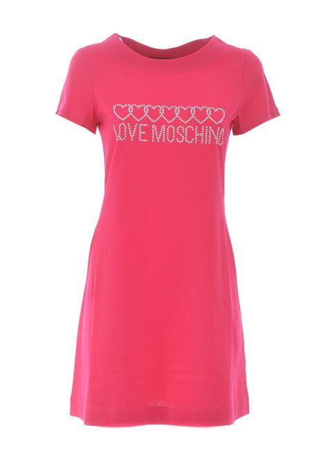 ABITO LOVE MOSCHINO IN COTONE LOVE MOSCHINO | Abito | W592915M3876O49FUXIA