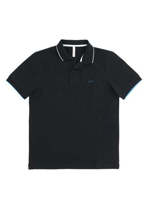 POLO SMALL STRIPES ON COLLAR EL SUN68 | Polo | A3111011NERO