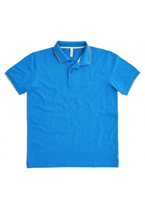 POLO SMALL STRIPES ON COLLAR EL SUN68 | Polo | A3111012BLUE