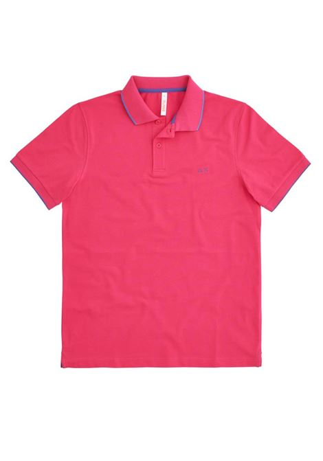 POLO SMALL STRIPES ON COLLAR EL SUN68 | Polo | A3111020FUXIA