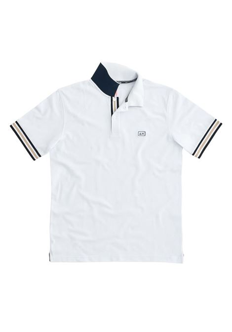 POLO STRIPES ON FRONT PLACKET EL SUN68 | Polo | A3111301BIANCO