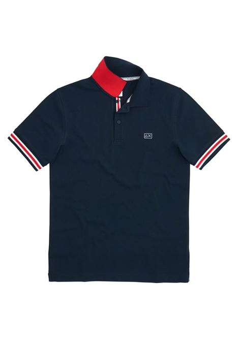 POLO STRIPES ON FRONT PLACKET EL SUN68 | Polo | A3111307BLUNAVY