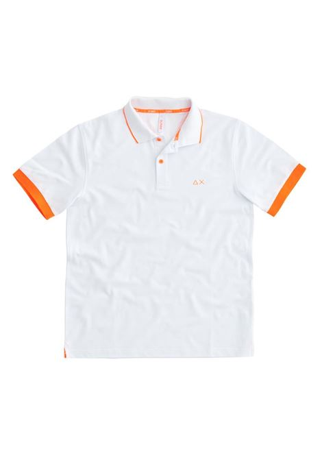POLO SMALL STRIPES FLUO EL SUN68 | Polo | A3111801BIANCO