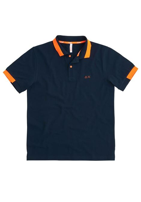 POLO BIG STRIPES FLUO EL SUN68 | Polo | A3111907NAVYBLUE