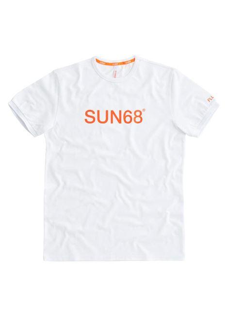 T-SHIRT ROUND FLUO PRINT SUN68 | T-shirt | T3110701BIANCO