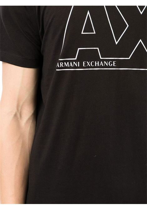 T-SHIRT CON STAMPA AX ARMANI EXCHANGE | T-shirt | 6KZTFAZJBVZ1200BLACK