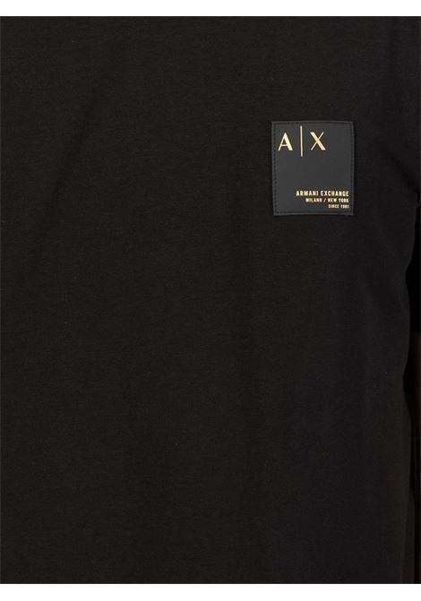 T-SHIRT CON APPLICAZIONE AX ARMANI EXCHANGE | T-shirt | 6KZTHTZJE6Z1200BLACK