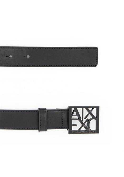 CINTURA CON LOGO AX ARMANI EXCHANGE   Cintura   9411300A87400020NERO