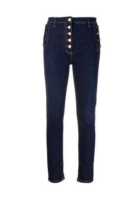 JEANS SKINNY CON BOTTONI DORATI ELISABETTA FRANCHI | Jeans | PJ20S16E2104BLUEDENIM