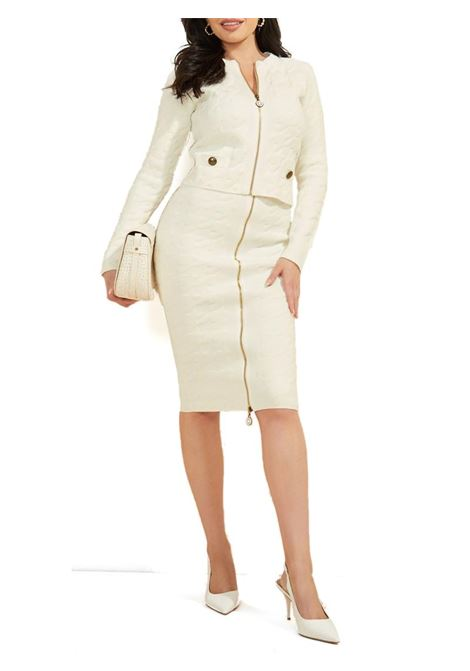 CARDIGAN IN MAGLIA GUESS BY MARCIANO | Cardigan | 1BGR165661ZG022FROSTEDWHITE