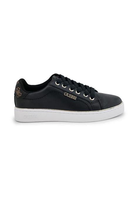 SNEAKERS BECKIE DETTAGLI LOGO GUESS | Sneakers | FL7BKIELE12BLKBR