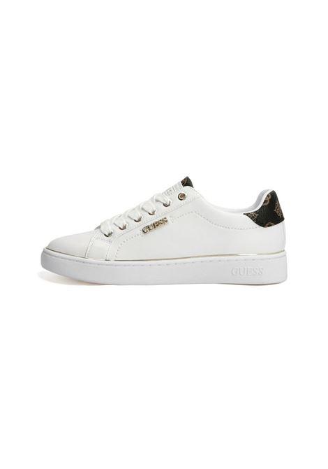 SNEAKERS BECKIE DETTAGLI LOGO GUESS | Sneakers | FL7BKIELE12WHITEBR