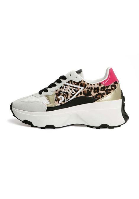 RUNNER CALEBB ANIMALIER GUESS | Sneakers | FL7CBBPEL12LEOPA