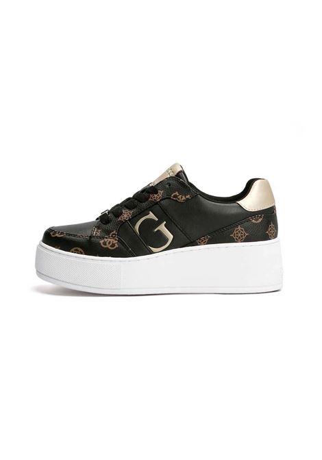 SNEAKER NEIMAN 4G LOGO GUESS | Sneakers | FL7NEIFAL12BLKBR
