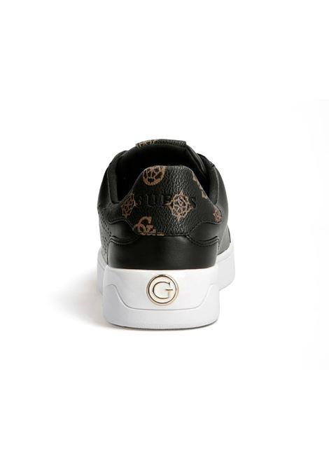 SNEAKER RORIA VERA PELLE LOGO GUESS | Sneakers | FL7RRIELE12BLKBR