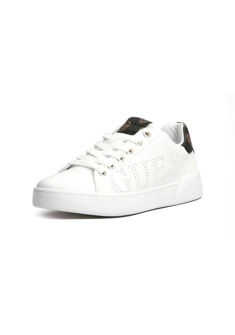 SNEAKER RORIA VERA PELLE LOGO GUESS | Sneakers | FL7RRIELE12WHIBR