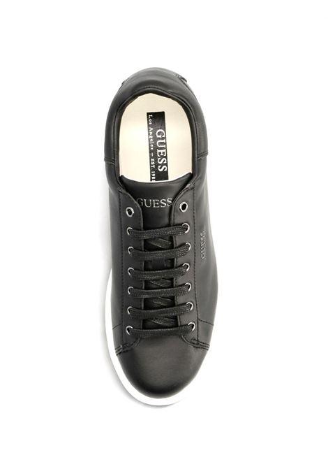 SNEAKER SALERNO VERA PELLE GUESS | Sneakers | FM5SLRLEA12BLKBL
