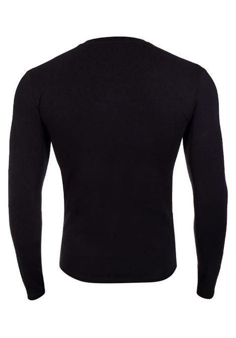 T-SHIRT SUPER SLIM MANICA LUNGA GUESS | T-shirt | M1RI28J1311A996BLACK