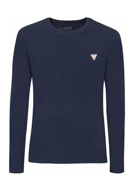 T-SHIRT SUPER SLIM MANICA LUNGA GUESS | T-shirt | M1RI28J1311G7V2SMARTBLUE