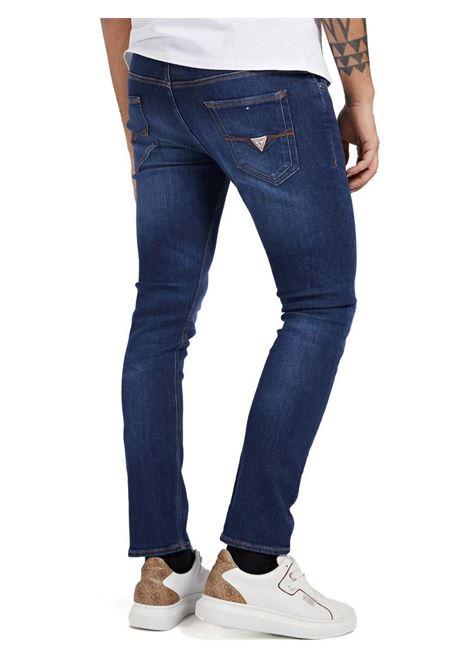 JEANS SKINNY GUESS | Pantalone | M1YAN1D4GV41CRDDARK