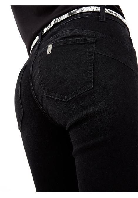 JEANS SKINNY CON RISVOLTO LIU JO BLUE DENIM | Pantalone | UF1006D461488206BLACK