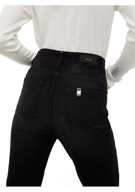 JEANS SKINNY A VITA ALTA LIU JO BLUE DENIM | Pantalone | UF1032D465088207BLACK