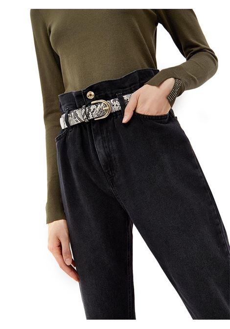 JEANS BOYFRIEND A VITA ALTA LIU JO BLUE DENIM | Pantalone | UF1048D462387275BLACK