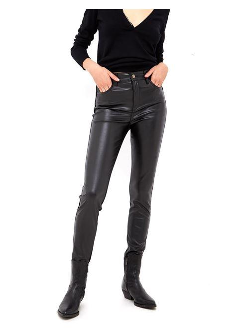 PANTALONE SKINNY BI-MATERICO LIU JO BLUE DENIM | Pantalone | UF1054D418887177BLACK