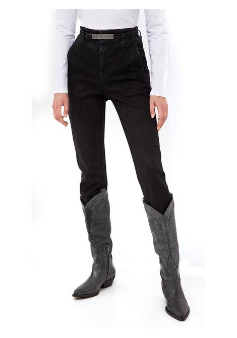JEANS CHINO SLIM FIT CON CINTURA LIU JO BLUE DENIM | Pantalone | UF1113D446688211BLACK