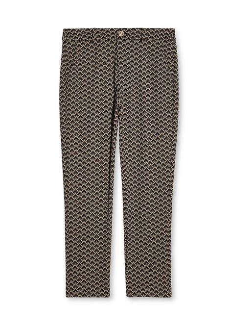 PANTALONE CHINO A VITA ALTA LIU JO JEANS | Pantalone | WF1184J1657S9203MORONEROPANNA