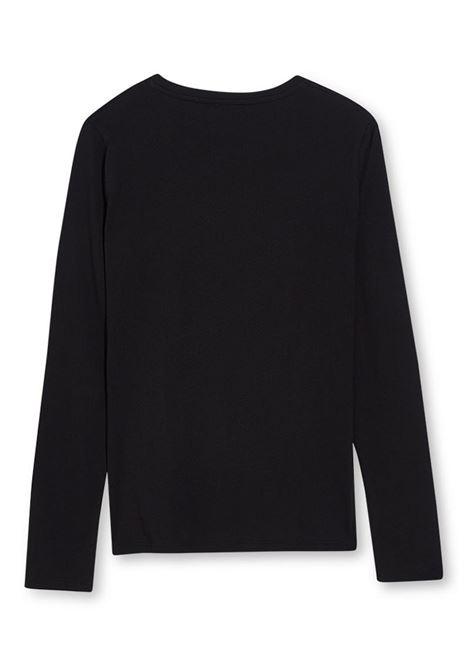 T-SHIRT CON STAMPA E APPLICAZIONI LIU JO JEANS | T-shirt | WF1566J6287S9223NERO