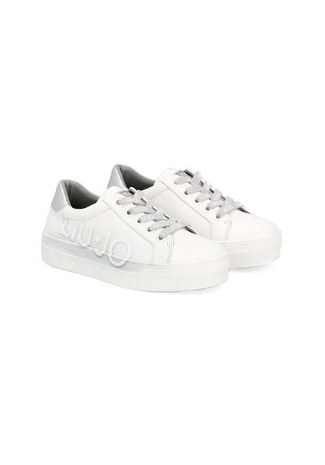 SNEAKERS CON LOGO LIU JO SHOES | Sneakers | 4F1841EX01404370WHITESILVER