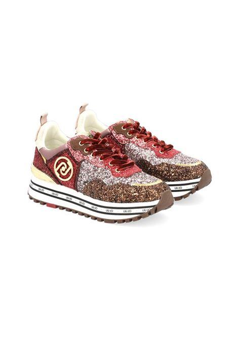 SNEAKERS CON GLITTER LIU JO SPORT | Sneakers | BF1051TX198S1838BROWN