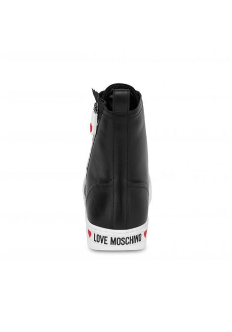 HIGH SNEAKERS LOVE MOSCHINO ZIPPER LOVE MOSCHINO | Sneakers | JA15063G1DIA0000VITNERO