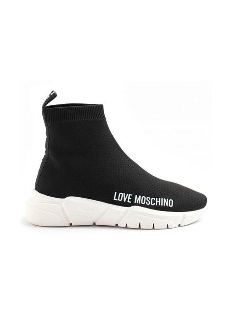 RUNNING CALZINO IN TESSUTO LOVE MOSCHINO | Sneakers | JA15343G1DIZ4000RUNNING35NERO