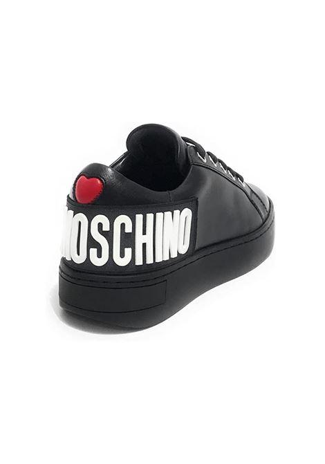 SNEAKERS IN PELLE LOVE MOSCHINO   Sneakers   JA15573G0DIA0000VITNERO