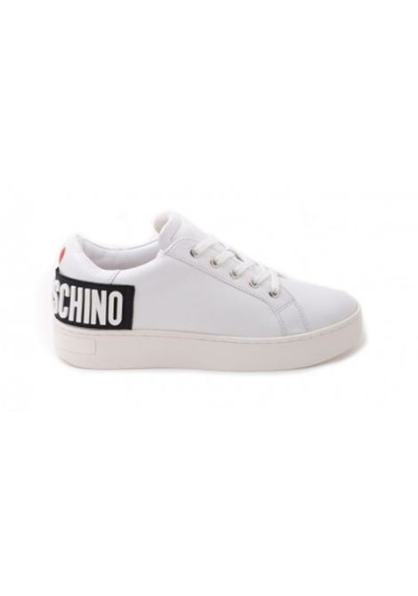 SNEAKERS IN PELLE LOVE MOSCHINO   Sneakers   JA15573G0DIA0100VITBIANCO