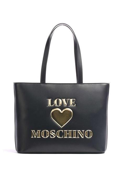 SHOPPER IN PELLE SINTETICA LOVE MOSCHINO | Borsa | JC4051PP0DLF0000NERO