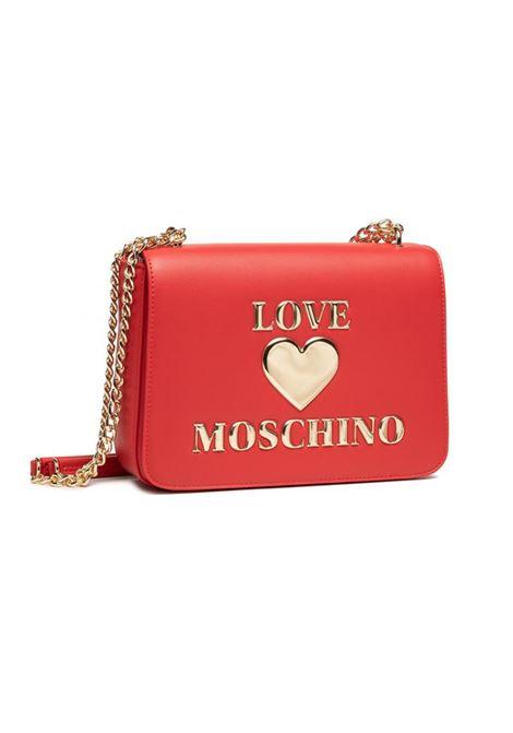 BORSA A TRACOLLA IN SIMILPELLE LOVE MOSCHINO | Borsa | JC4054PP0DLF0500ROSSO