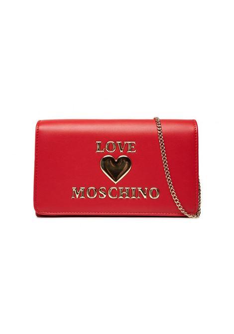 BORSA A TRACOLLA CON LOGO LOVE MOSCHINO | Borsa | JC4083PP0DLF0500ROSSO