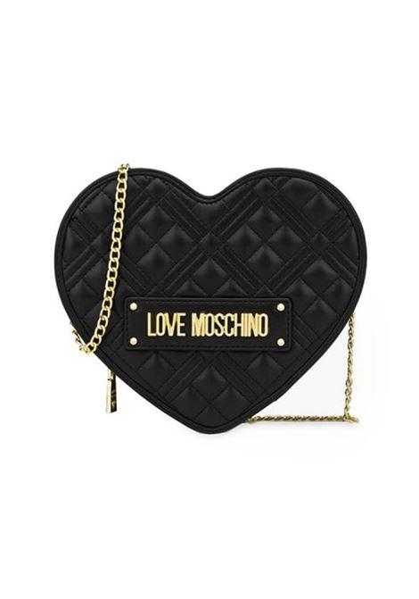 BORSA A TRACOLLA CUORE QUILTED LOVE MOSCHINO | Borsa | JC4132PP1DLA0000NERO
